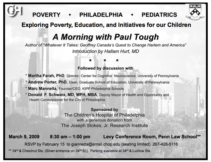 Philadelphia Forum | Paul Tough