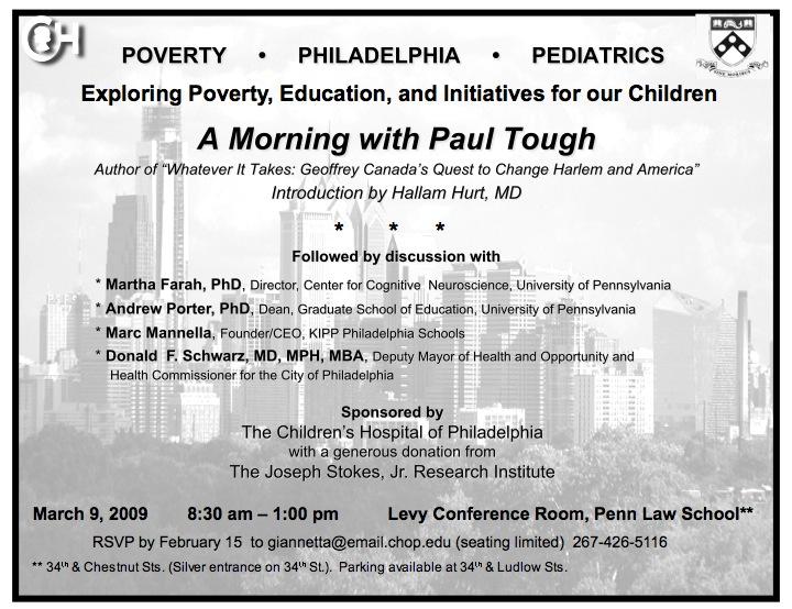 Philadelphia | Paul Tough